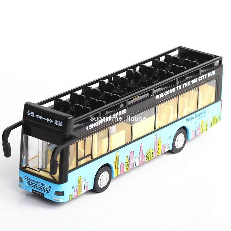 Sun [กล่อง] Alloy Open - Air รถบัสของเล่นโมเดลรถยนต์รถลากสำหรับเปิดประตูเสียงและแสง By Sunshine House.