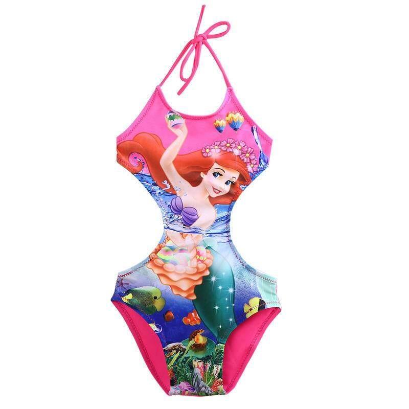 97ad2cc7c 2-10T Girl Kids Swimsuit Cartoon Bathing Suit Print Children Swimwear  Bikini Tankini Baby Summer