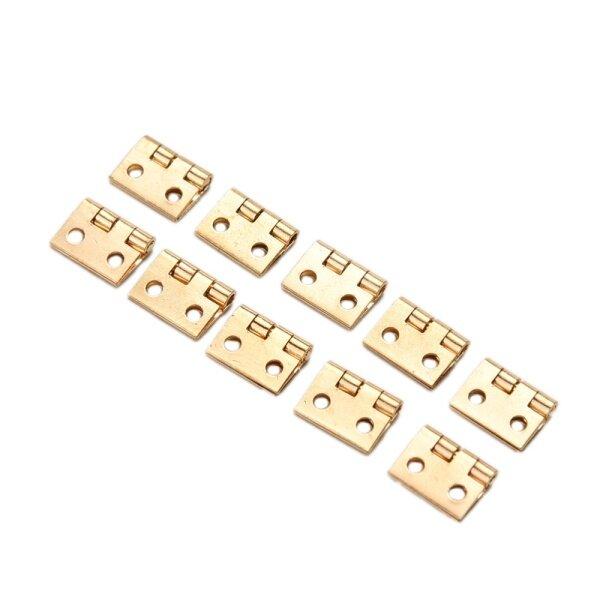 10Pcs Mini Small Metal Hinge for 1/12 House Miniature Cabinet Furniture