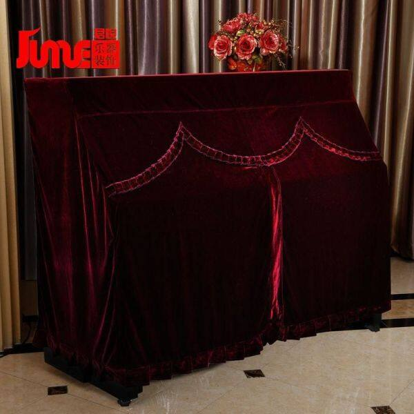 fabric full Piano cover gold velvet soft piano cover dustproof piano thickened cover high grade Malaysia