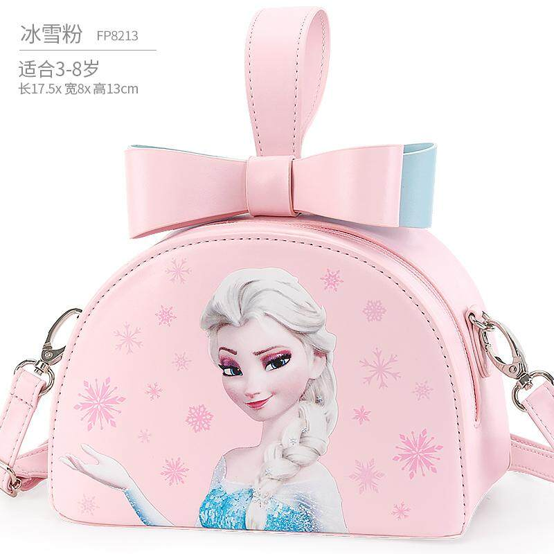2019 New Hot Original Genuine Frozen Snow Ice Princess kids Fashion bag Sofia Children Toy pink blue bag Satchel handbag single shoulder bag girl Birthday gift