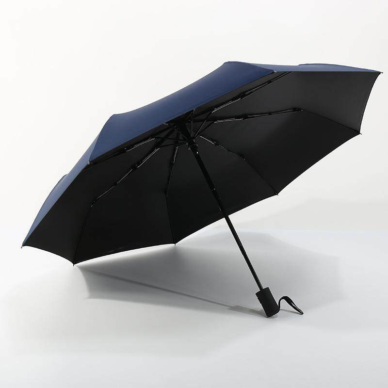 New Creative Black Rubber Sunscreen Fully Automatic Umbrella Umbrella Fully Advertising Umbrella Sunny Business Folding