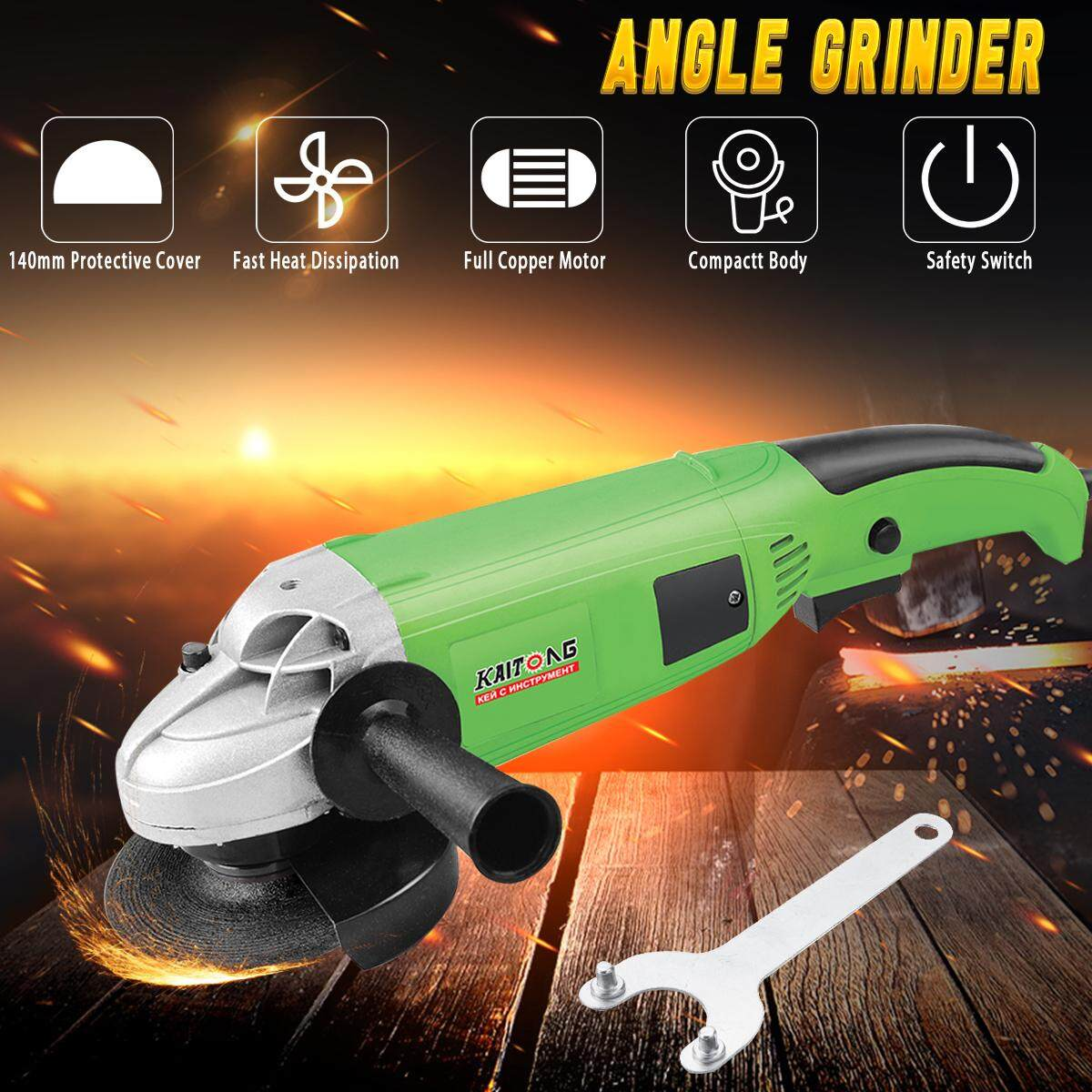 1200W Electric Angle Grinder 125mm Grinding Machine Metal Cutting Tool 10000RPM