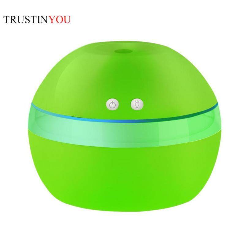 300ml USB Smart Key Press Ball Ultrasonic Air Humidifier 7 Color LED Night Light Aroma Essential Oil Diffuser Aromatherapy Air Purifier Mist Maker for Office Home Singapore