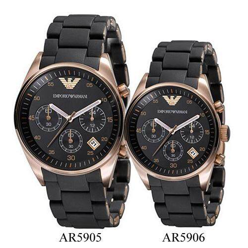 Emporio Armani Couple PVD Rose Gold Pleated Watch AR5905 Malaysia