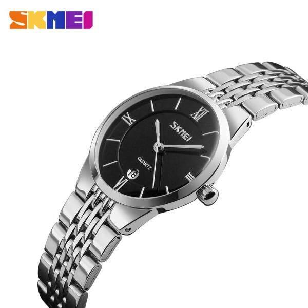 SKMEI Women Men Fashion Watches Quartz Couple Watch Stainless Steel Simple Waterproof Casual Wristwatches 9139 (1 Piece) Malaysia