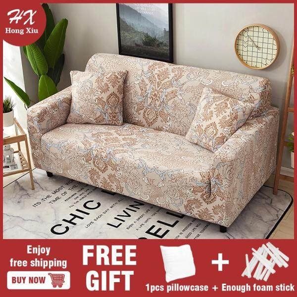 1/2/3/4 seat sofa cover with 1 pillowcase sofa cover universal sofa cover sofa cover L-shaped sofa universal elastic sofa cover
