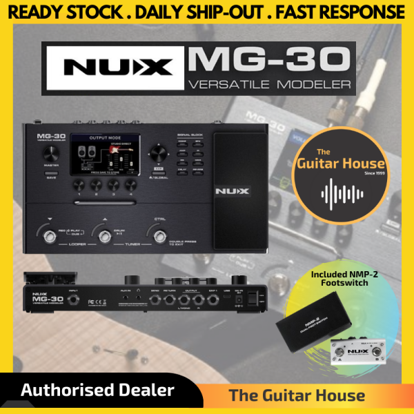 Nux MG-30 Versatile Amp Modeler Multi-Effects Pedal with Impulse Response (MG30/MG 30) Malaysia
