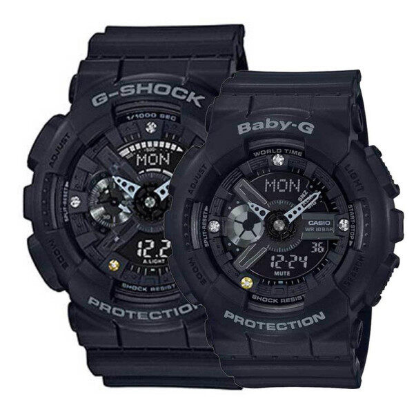SPECIAL PROMOTION CASIO_G_SHOCK GA110 DUAL TIME RUBBER STRAP WATCH SET FOR COUPLES Malaysia