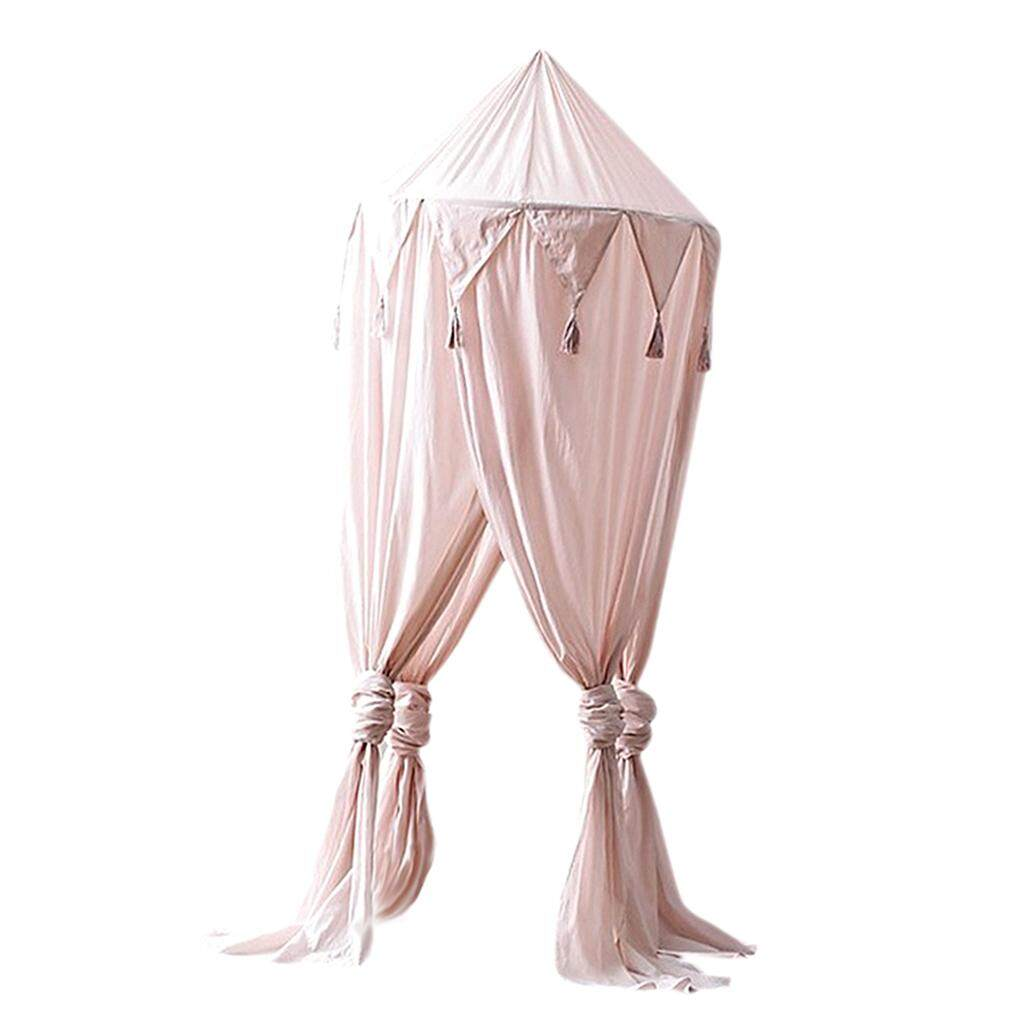 Fenteer เด็กวัยหัดเดินเด็กมุ้งคลุมเตียงผ้าคลุมเตียงยุงตาข่ายม่านผ้าปูที่นอนเต็นท์ทรงโดม By Fenteer.