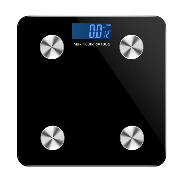 Floor Scale Smart Bluetooth-Scales Body Weight Bathroom Scale Electronic LED Digital Body Weight Body Fat Water Muscle Mass BMI