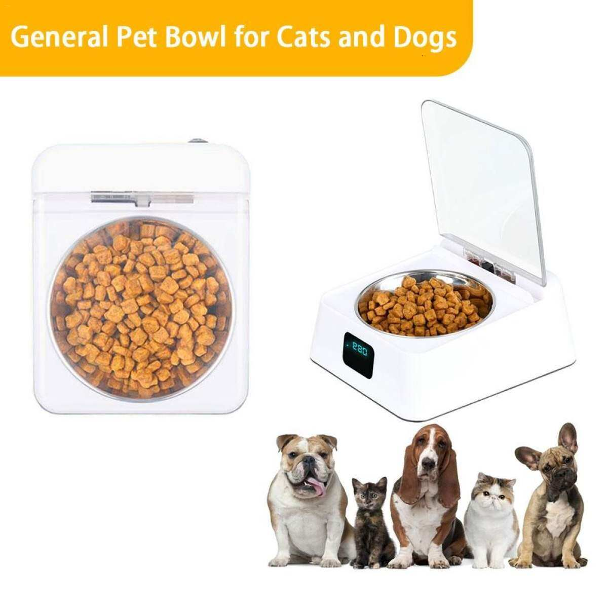 Automatic Pet Feeder Bowl Infrared Sensor Auto Open Cover Intelligent Feeder Anti Mouse Moisture Proof Dog Cat Food Dispenser Hot Sell Lazada