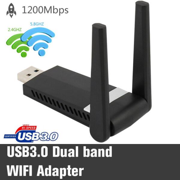 Bảng giá 1200Mbps USB3.0 Bộ Chuyển Đổi Mạng LAN Không Dây 5.8 Ghz + 2.4GHz Băng Tần Kép Cổng USB Wi-Fi 11AC Phong Vũ