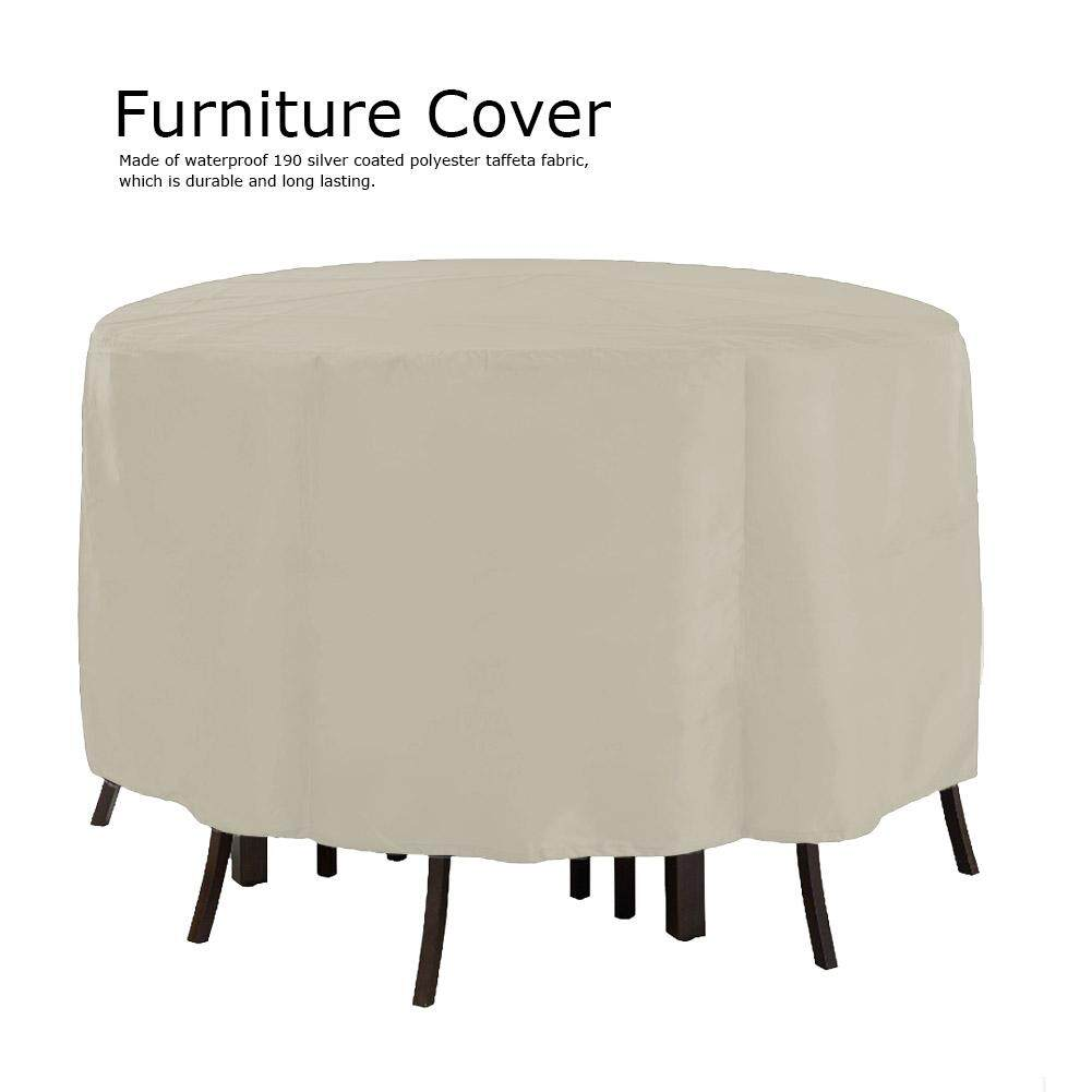 Garden Patio Furniture Cover Waterproof Round Outdoor Table Covers 239*58CM