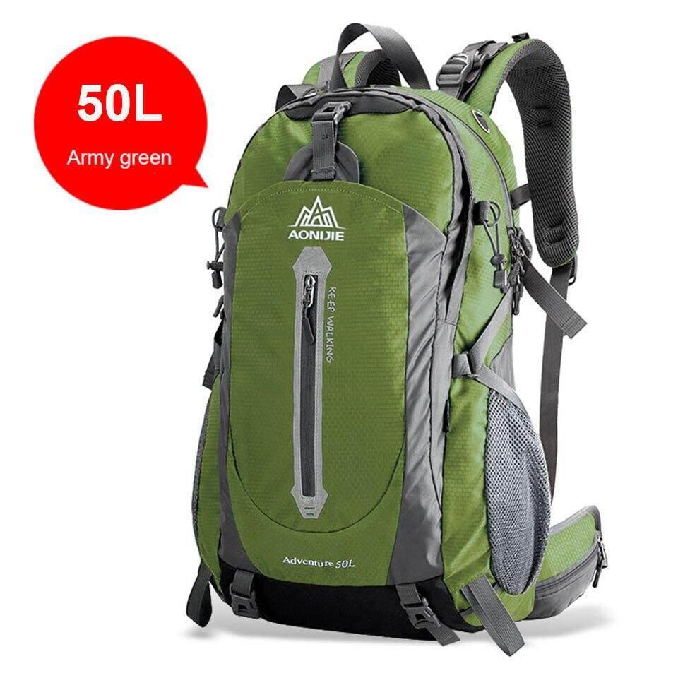 1dc9995acab8 AONIJIE Outdoor Sport Camping Shoulder Bags Travel Backpack Bicycle Hiking  Bags Waterproof Backpacks 40L 50L