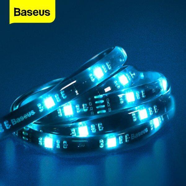 Baseus 5M Smart LED Strip RGB 5050 USB LED Light Strip For Gamer PC TV Room Color Backlight 5V Ledstrip Wire Cable RGB LED Stripe