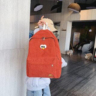 Large Capacity Student Backpack Stripe Shoulder Bag for Women - Canvas Women Backpack, High School Bag College Bag thumbnail