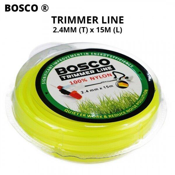 Bosco Trimmer Line (Tali Mesin Rumput) 100% Nylon 2.4MM (T) x 15M (L)