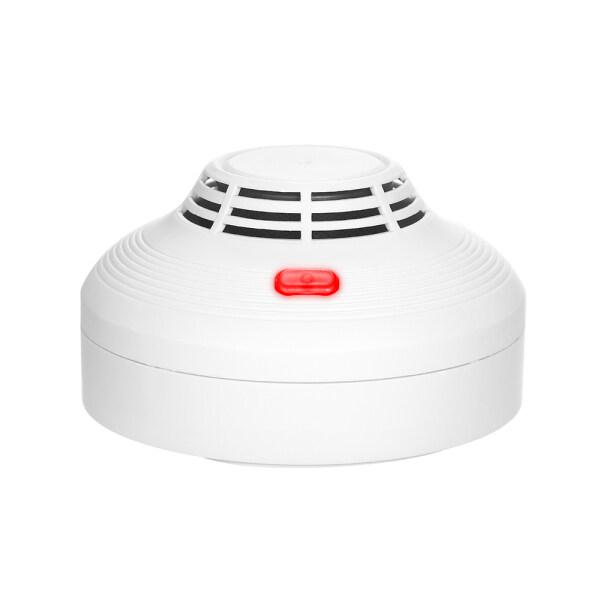 Pengesan Asap Penggera Kebakaran dengan Sensor Fotoelektrik Bateri Dikendalikan dengan Cahaya Bunyi Amaran Bunyi Amaran Tidak Terdawai Keras untuk Rumah Dapur Pejabat Kilang