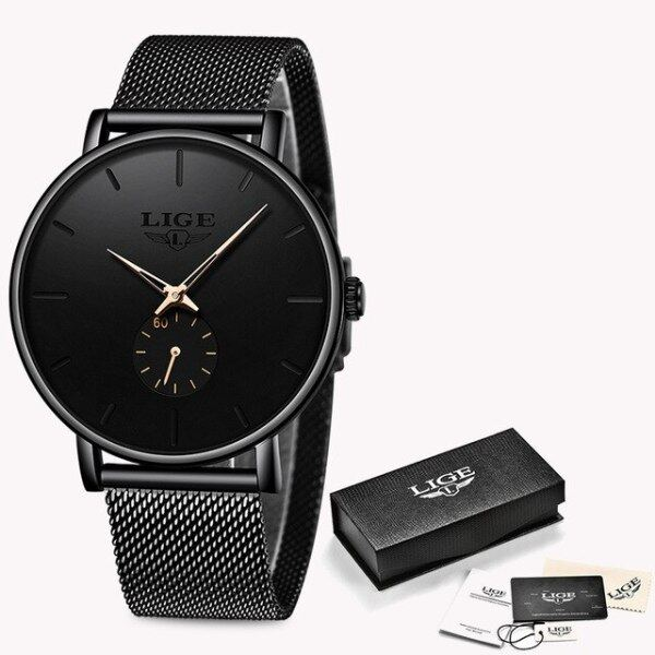 Mens Business Dress Watches Luxury Casual Waterproof Sport Watch Men Creative Dial Quartz Slim Mesh Watch Relogio Masculino Malaysia