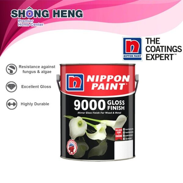 Nippon 9000 Gloss Finish Wood & Metal Paint - 5L - Favourite Color Option
