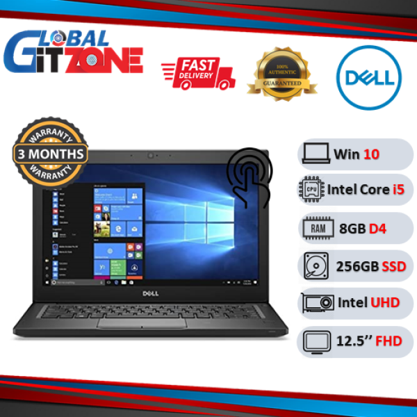 Dell Latitude 7280 Used Laptops 12.5 FHD, 8GB, Intel Core i5 (7th GEN,128GB SSD, Touch) (6th GEN, 256GB SSD, Non Touch) SECOND HAND notebook Malaysia