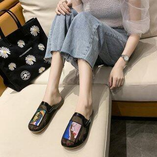 Dép Lê Nữ Quá Khổ 2020 Sản Phẩm Mới Thời Trang Mặc Thoáng Khí Chân Rộng Chị Em Mũm Mĩm Đế Bằng Giày Nữ Thời Trang thumbnail