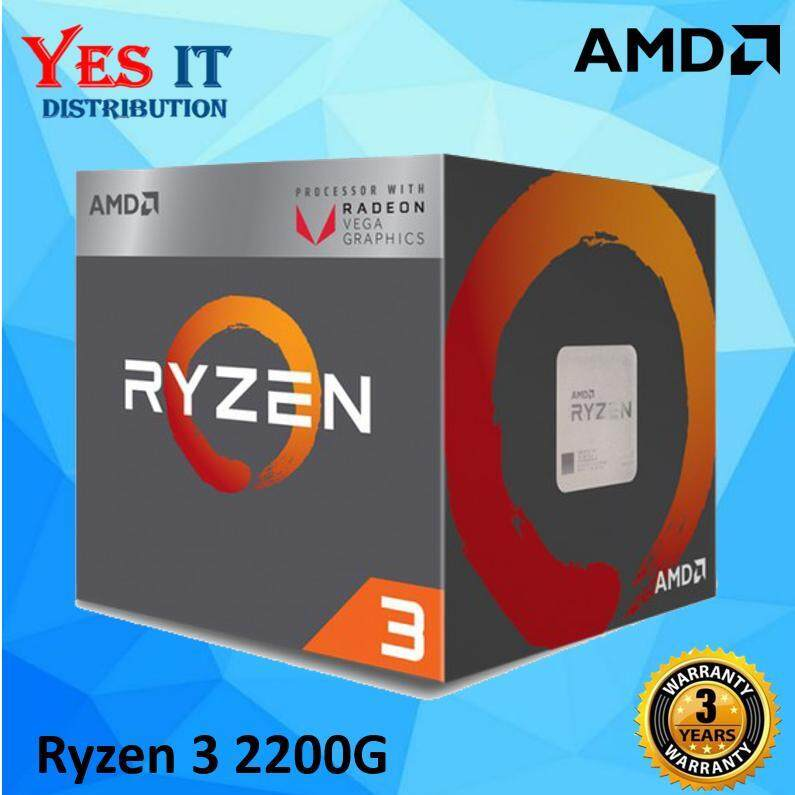 AMD Ryzen 3 2200G With Radeon Vega 8 Graphics Processor (3 7Ghz, 6MB Cache,  AM4)__[AMD-RZ 3-2200G]