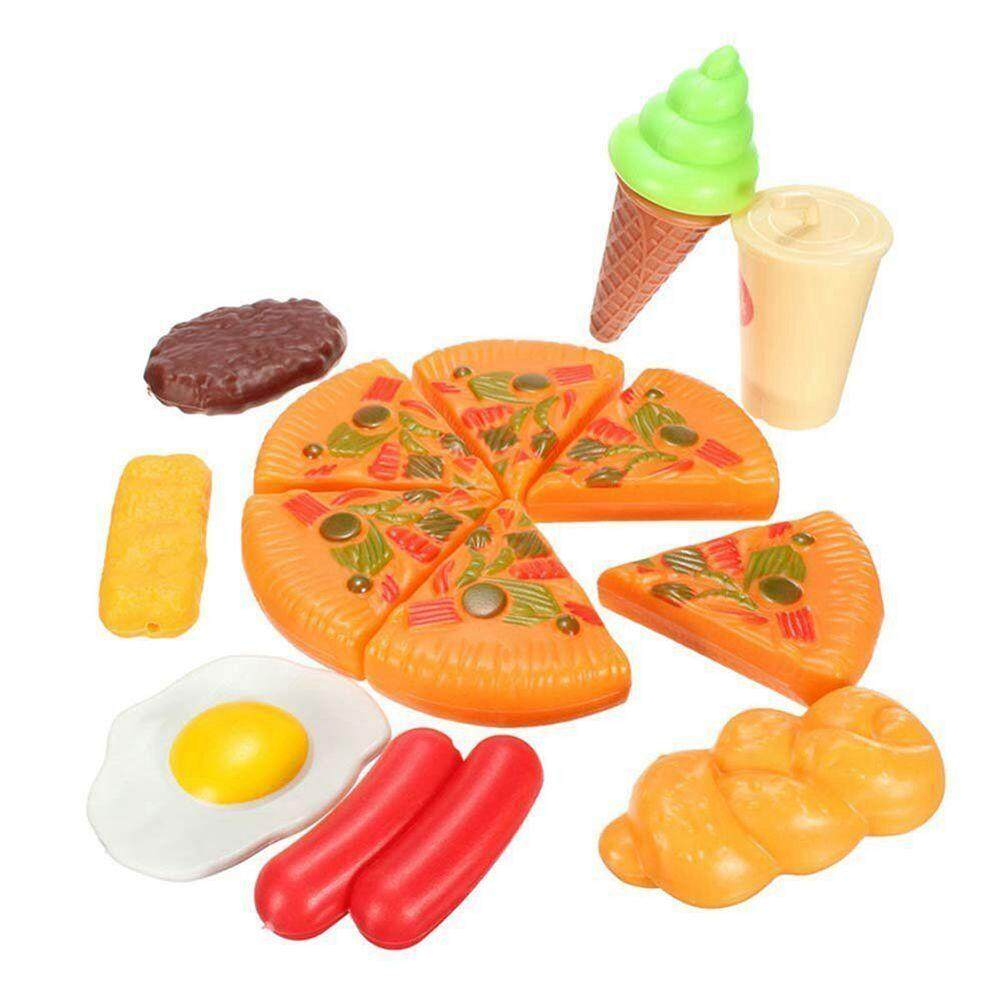 13pcs Funny Kids Plastic Pizza Cola Ice Cream Food Kitchen Role Play Toy Hot Set By Benefitwen.
