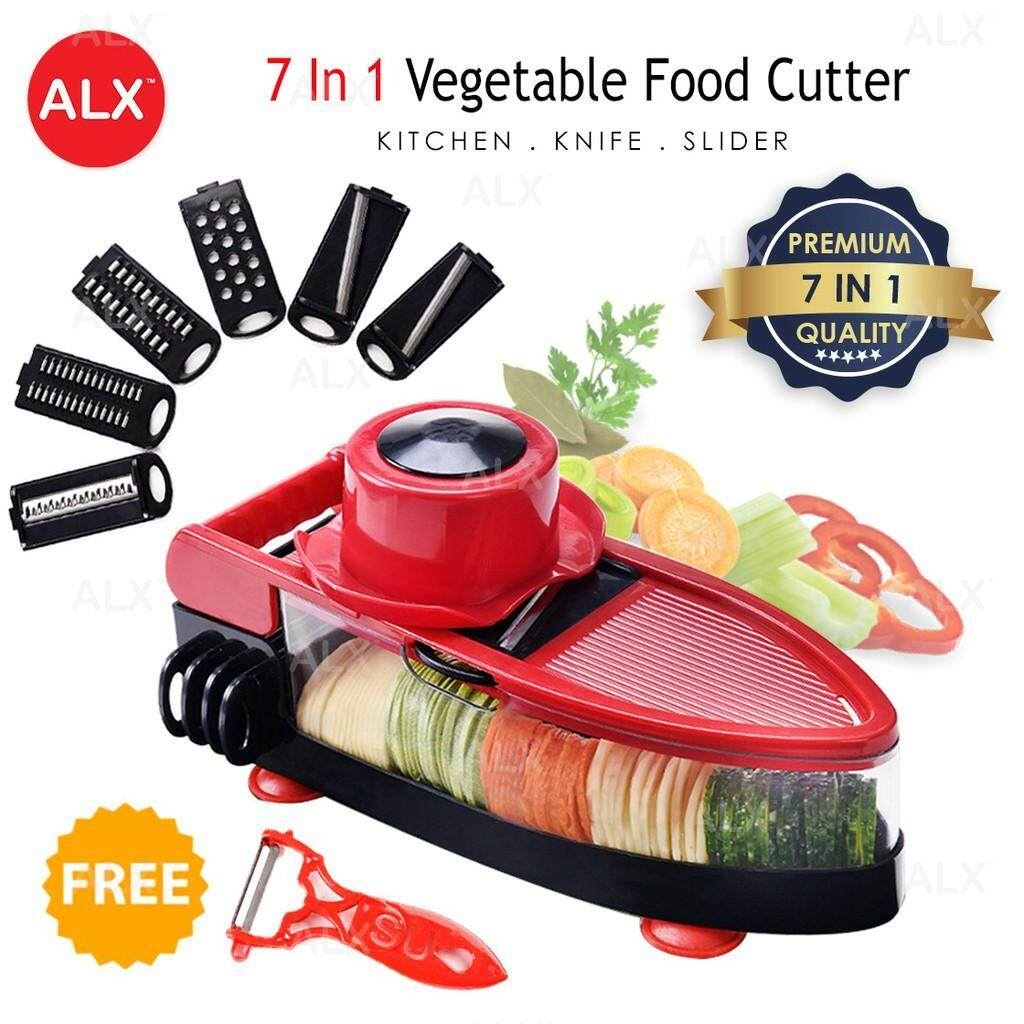 READY STOCK 7 in 1 High Quality Vegetable Slicer Grater Food Fruit Salad Tool 3068 MB