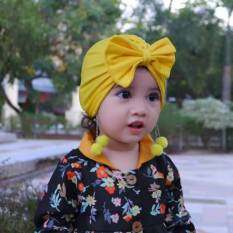 I LOVE DADDY&MUMMY Nơ To Bé Beanie Cap Mùa Hè Mùa Thu Bé Gái Nắp Ca-pô Chiếc Mũ Khăn Xếp Mềm Trẻ Em Trẻ Em Mũ Trùm Đầu Trẻ Em Đạo Cụ Chụp Ảnh