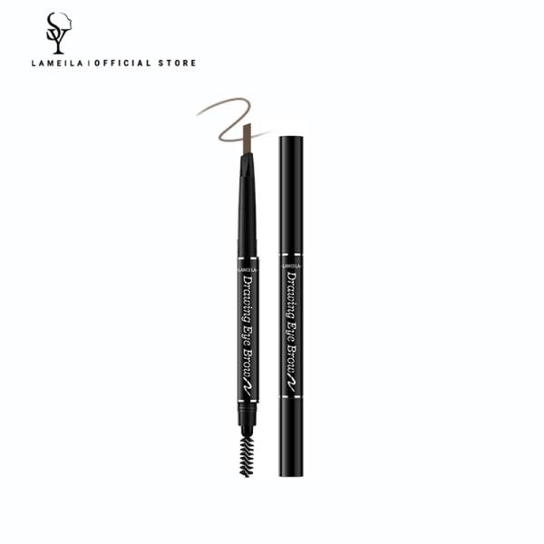 LAMEILA Bút kẻ chân mày hai đầu MC0013 0.3G không thấm nước chống mồ hôi giữ màu tốt phù hợp với người mới tập trang điểm - INTL