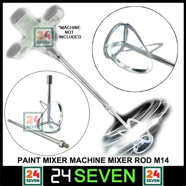 [ READY STOCK ] Paint Mixer Machine Mixer Rod M14 Mixer Paddle Paint Mixer Stirrer Threaded Tip / Arm Mixing Rod for Chemical, Food, Coating Paint, Cement Mixer, Mortar Mixer