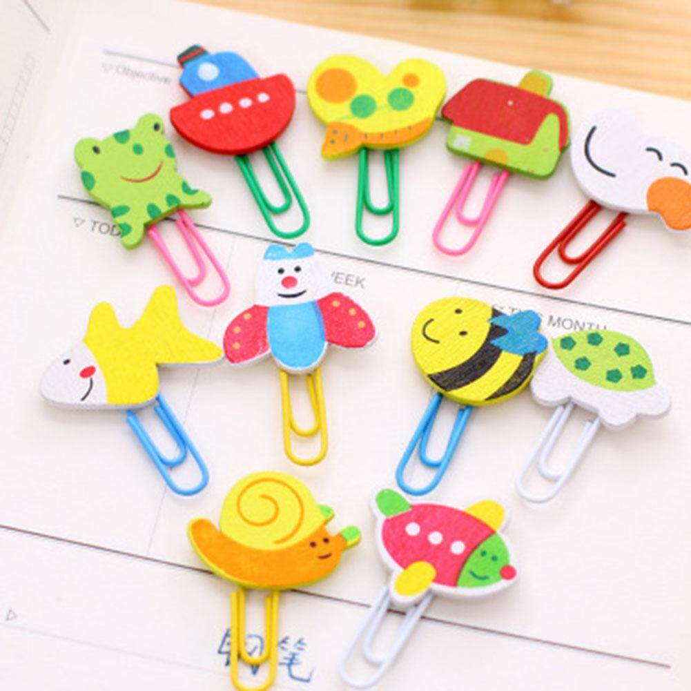 Linfang 10 Pcs Lovely Cartoon Animal Shaped Mini Paper Clip Bookmark By Linfang Store.