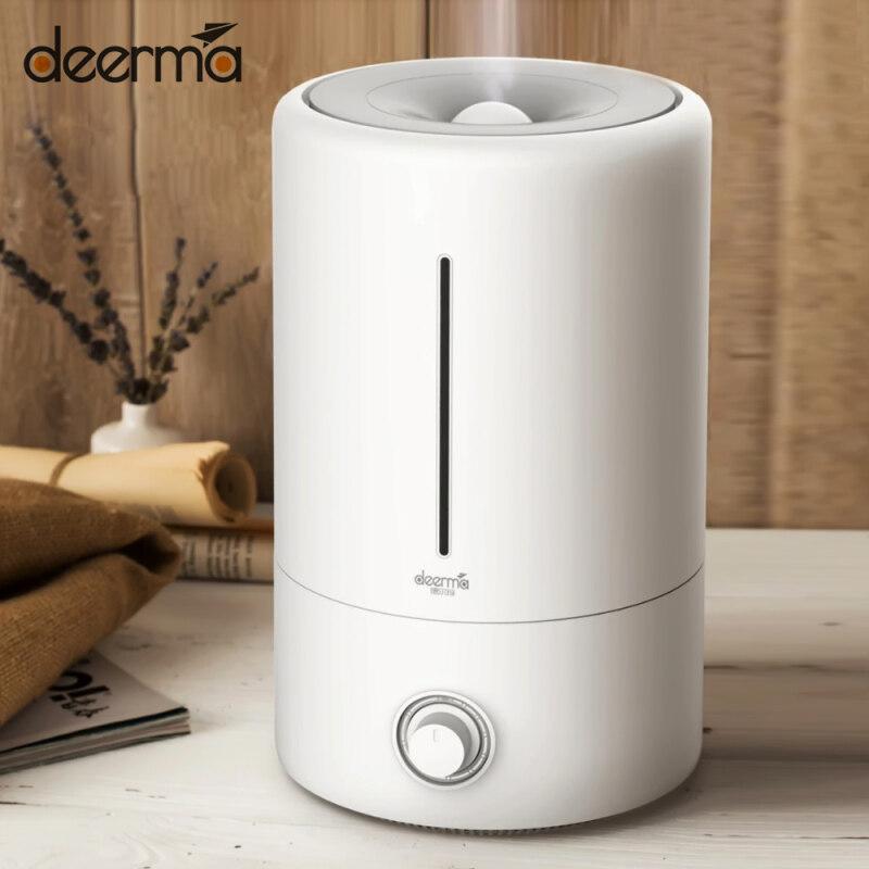 Máy tạo độ ẩm không khí Xiaomi youpin DEERMA F628 5L, màn hình cảm ứng, Máy tạo độ ẩm không khí có mùi thơm, máy lọc sương thời gian cho gia đình, văn phòng 220V