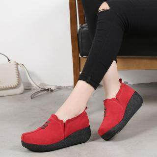 Dosreal Căn Hộ Cho Nữ Da Trượt Trên Giày Thoáng Khí Phong Cách Hàn Quốc Nêm Cho Nữ Nữ Đáy Dày Nữ thumbnail