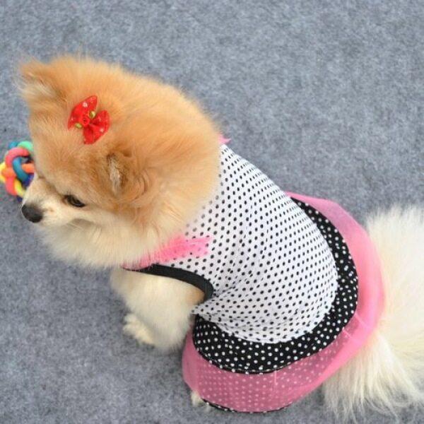 Jianjia28 Quần Áo Chó Cưng Quần Áo Mèo Ruffle Dot In Tutu