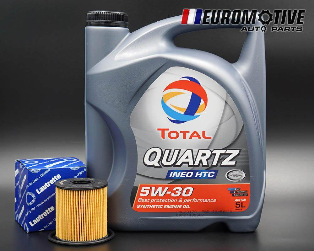 TOTAL INEO HTC 5W-30 Engine Oil 5L + Oil Filter for Peugeot Citroen