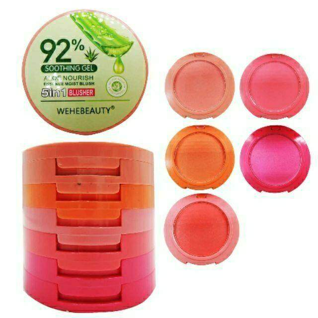 Blusher Wehebeauty 5 In 1 Aloe Vera By Pinkyladiesbeautyshop.
