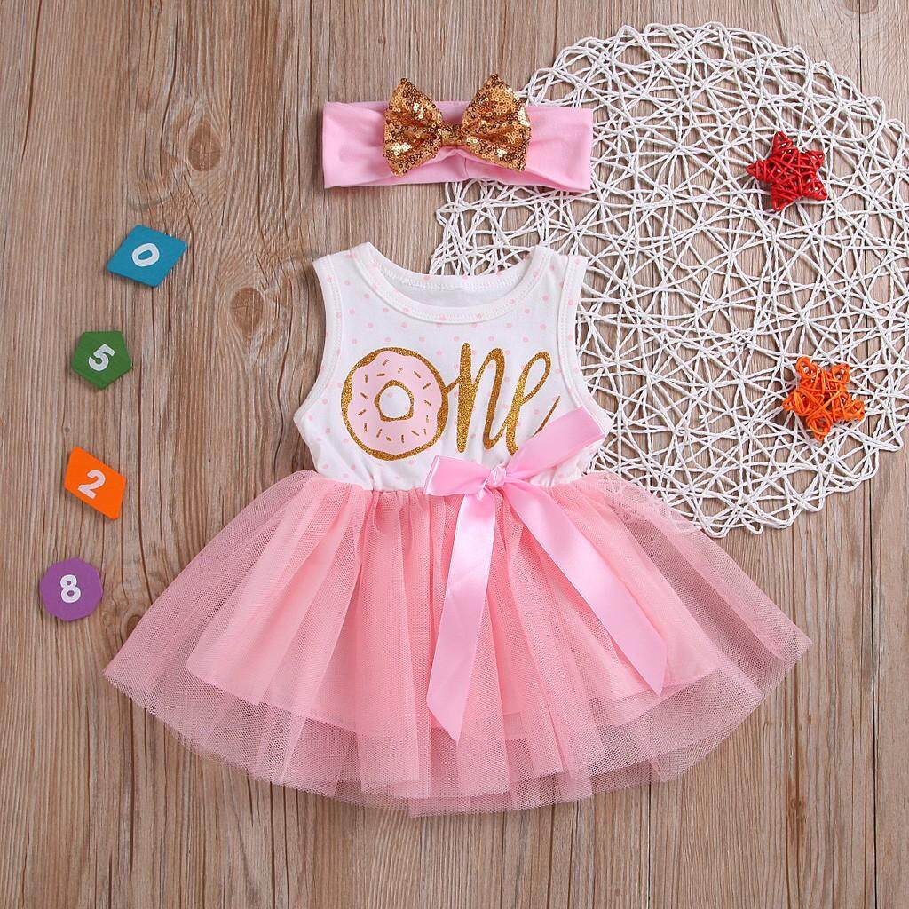 2a7fcc992 Yhystore Toddler Baby Girls Letter Ribbons Bow TUTU Skirt Dress Hairband  Sister Outfits