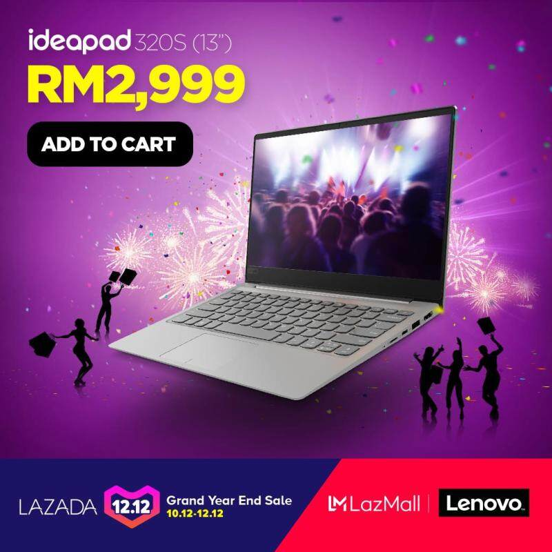 [Exclusive Pre-Order] Lenovo IP320S-13IKB 81AK0086MJ /13.3FHDIPS/I7-8700U/4GB/256GBPCIE/GT1040 2GD5/W10/GREY/2YR PREONSITE - Ship out 20th December Malaysia