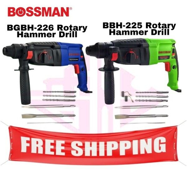BOSSMAN BBH225 BGBH-226 Rotary Hammer Drill 900w BBH-225 BGBH-226 Gerudi Tukul Berputar