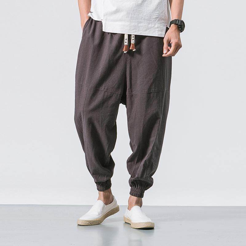 9977e032c Male Jogger Pants 2019 Summer Fashion Big Yards Casual Street Japanese  Chinese Wind Loose Cotton Trousers