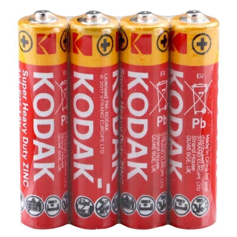 60PCS GENUINE KODAK Zinc AAA Super Heavy Duty Battery 1.5V - K3AHZ-S4 Malaysia