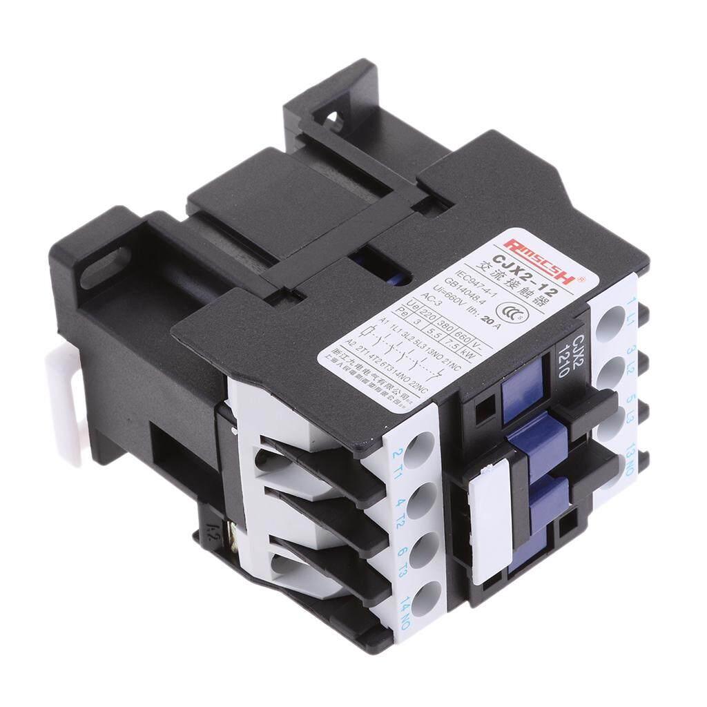 Blesiya CJX2-1210 660V 3 Phase 3P NO AC Contactor DIN Rail Mount AC 220V Coil