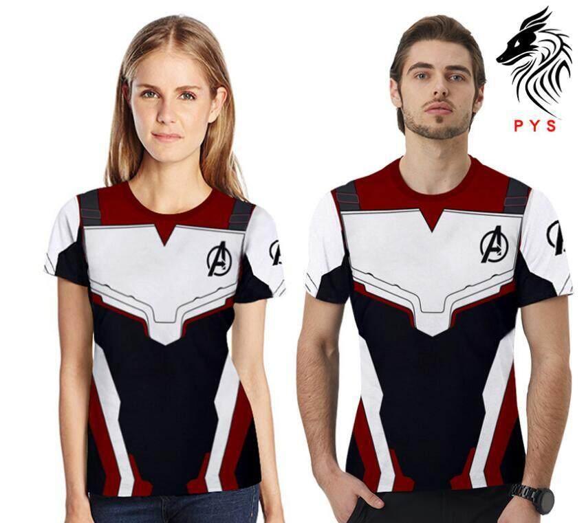 Hot 3D The Avengers 4 Endgame Superhero Short Sleeve T-shirt Tops Tee Cosplay IT
