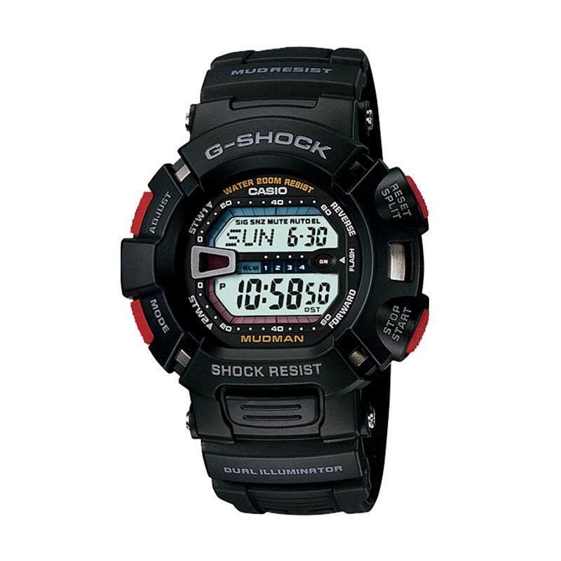 [100% Original G SHOCK]Casio G-Shock Dual Illuminator Series Black Resin Watch G9000-1V G-9000-1V (watch for man / jam tangan lelaki / casio watch for men / casio watch / men watch / watch for men) Malaysia