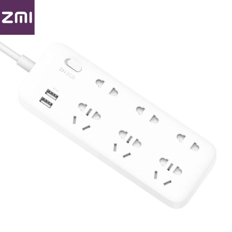Ổ cắm điện Xiaomi youpin ZMI, bộ sạc nhanh 18W 2 ổ cắm USB tại nhà, bảng 6 chữ số tiêu chuẩn quốc gia, giắc cắm 250V 2500W