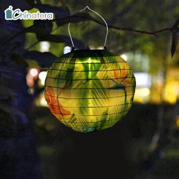 [Chinatera] Phong Cách Trung Quốc Retro Lá Sơn Hình Hoa Sử Dụng Năng Lượng Mặt Trời Đèn Lồng LED Ngoài Trời Không Thấm Nước Vườn Sân Hiên Sân Vườn Vòng Hoa Đèn Treo Đèn Lồng Cho Đảng Sạn Holiday Lễ Hội Trang Trí