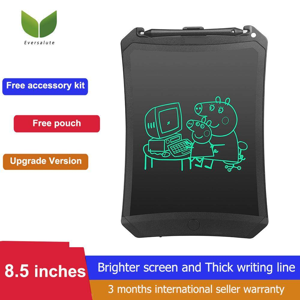 [Brighter Screen] Eversalute Writing Tablets,Upgrade Model Brighter 8.5 Inch Drawing pad  LCD Writing Tablet, Digital Drawing Board, Office Writing Board, Handwriting Sketching Graffiti Board with Erase And Lock Button For Kids and Adults